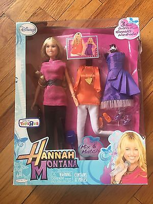 Disney Hannah Montana 3 three Outfits Barbie-style Doll Toys R Us Exclusive 2010