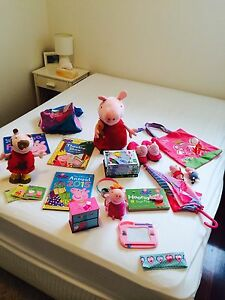 Bag of Peppa Pig toys and accessories Coorparoo Brisbane South East Preview