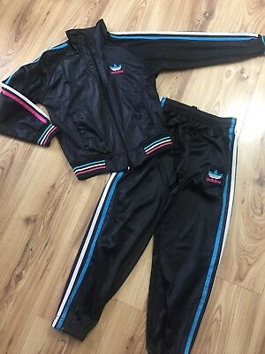 Girls Adidas Black Pink Tracksuit Age 10yrs Zipper Defective Jacket