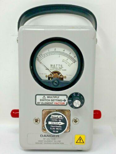 Thruline Model 4410A Wattmeter w/carring case and 10kW, 2-30MHz element