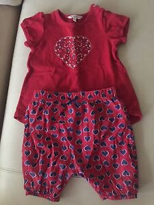 Fox & Finch Red Heart Outfit- 12 Months Paddington Eastern Suburbs Preview