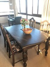 PRICE DROP antique dining room table and chairs Darling Point Eastern Suburbs Preview