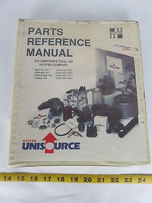 Hyster/Clark Unisource Lift Truck Parts Reference Manual Electric & Combustion L