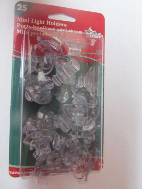 adams mini light holders package of 25 7501 christmas holidays new - Christmas Light Holders