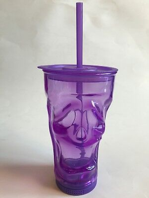 Cool Gear Halloween Tumblers (Halloween Cool Gear 18oz Purple Screaming Face Reusable Tumbler W/Straw)