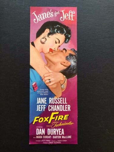 "Fox Fire & 4 Movies on the Back Bookmark (1955) - 4"" x 11"""
