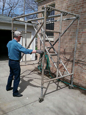 23 Upright Stairway Brand Aluminum Scaffolding Heavy Dutylightweight 4 Section