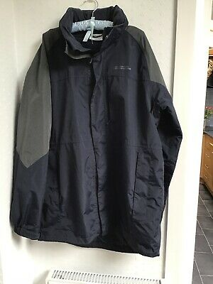 Mountain Warehouse Ridge Long Jacket Navy Grey Smart Rain Coat L Excellent