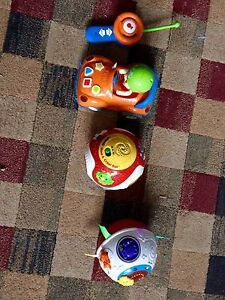 Toddler remote and two move & crawl balls