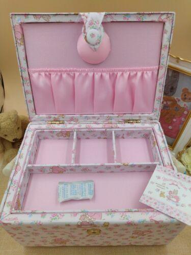 Sanrio Marron Cream Sewing Basket Accessories Pink Floral Storage Box Japan 2019