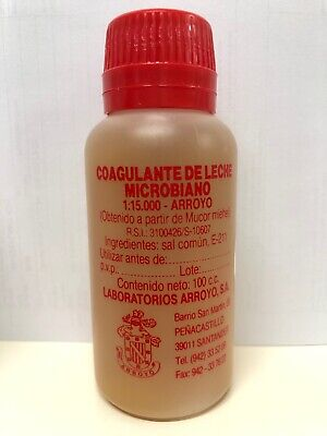 Cuajo Coagulante De Leche Microbiano Arroyo 100ml. 1:15.000. Quesos, Cuajada...