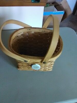 Large 2 Handled Basket with Precious Moments Tag
