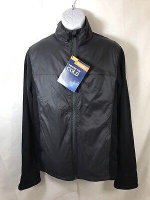 Mens Lightweight Hybrid Jacket - NWT Refrigiwear Mens Lightweight Hybrid Wind Athletic Zip Up Jacket Size L Black