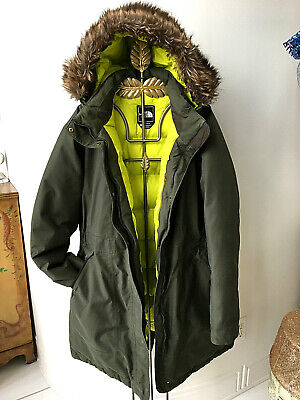 Authentic The North Face Goose Down Hyvent 550 Long Coat Size XL Olive Green
