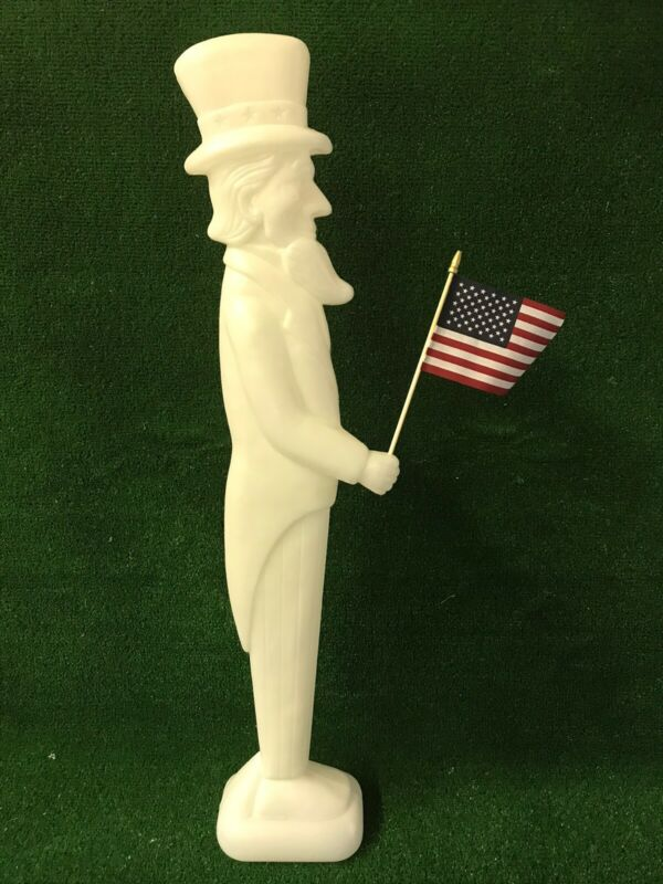 Blow Mold Uncle Sam Unpainted New Stock American Flag Don Featherstone Union