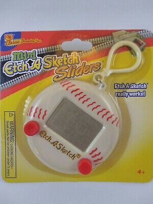 2005 Ohio Art Mini Etch A Sketch Sliders RARE BASEBALL with clasp New unopened