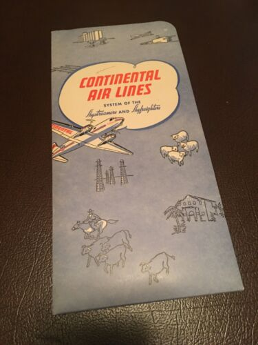 Continental Airlines 1948 seat back packet