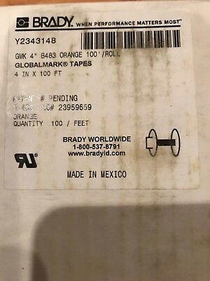 Brady Global Mark Gmk 4 B483 Orange 100 Roll Y2343148 Label Maker Tape Supply