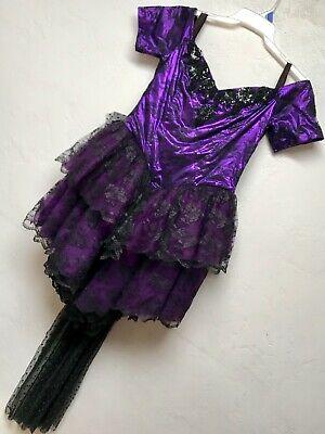 Halloween Custom Costume Gothic Purple 1 Piece Dress w Mesh Train Sz - Trainer Kostüm Halloween
