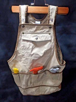 Baby Gap Overalls Tan Tools Belt Carpenter Kid 12-16 Months 100% Cotton Cute++++