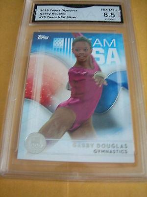 Gabby Douglas Gymnastics 2016 Topps Usa Olympics Silver   75 Graded 8 5
