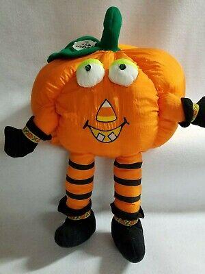 Cheap Decorative Lanterns (Battery Scary Sounds Eyes Flash Plush Fabric Pumpkin Jack-O-Lantern)