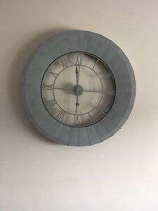 MUST GO BY TOMORROW MORNING- Large Metal Clock - Can Del