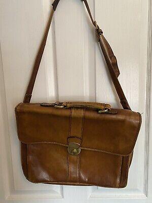 Vintage Hidesign Leather Briefcase Satchel