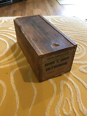 Brown Sharpe Intrimik Wood Storage Case Only Part 2.000-2.400 No Tool