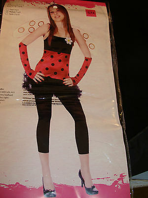 Lovely Lady Bug Kostüme (Halloween Costume Lovely Ladybug Women's Teen's Medium 7-9 awesome)