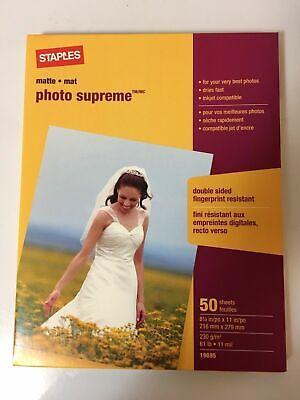 8 1/2x11 Matte Photo Paper (Staples Photo Supreme Paper 8 1/2