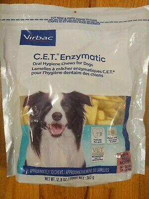 CET Enzymatic Oral Hygiene Chews for Medium Dogs 26-50 Lbs. 30ct, Exp 11/22