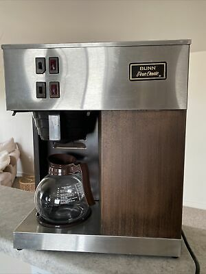 Vintage Bunn Pour-omatic 12 Cup Commercial Coffee Maker W Top Warmer Model Vpr