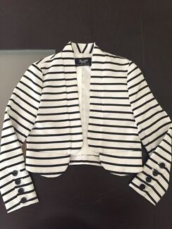 Bardot Junior satin striped dressy jacket - Size 2-3