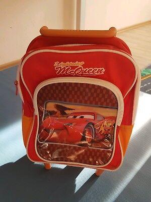 Disney Cars Trolley Rucksack Kinderkoffer McQueen Tasche Handgepäck 8636, gebraucht gebraucht kaufen  Augsburg