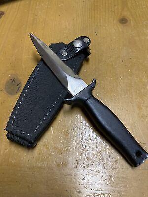 RARE VINTAGE GERBER MARK 1 FIXED BLADE BOOT KNIFE W/ ORIGINAL SHEATH