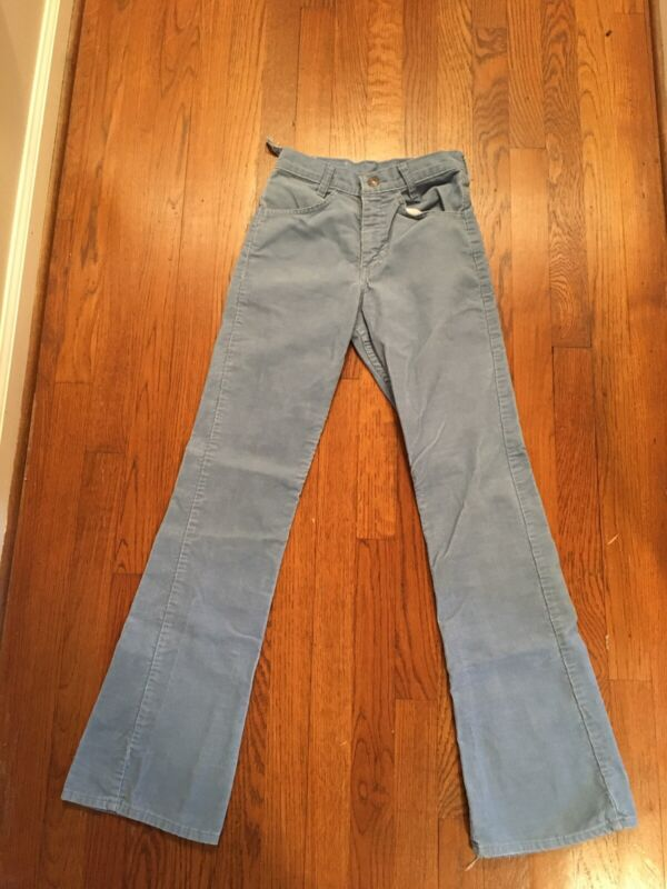 Vintage 70s Levis Corduroy Made In USA FLARE Jeans Size 25x30