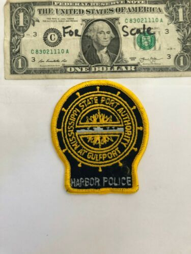Gulfport Mississippi Harbor Police Patch Port Auth. Un-sewn Great condition