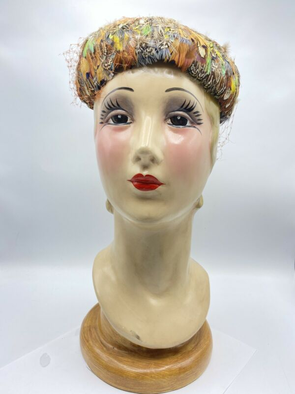 Beautiful! Vintage Hand Painted Woman Mannequin Head Signed KC And Numbered 00