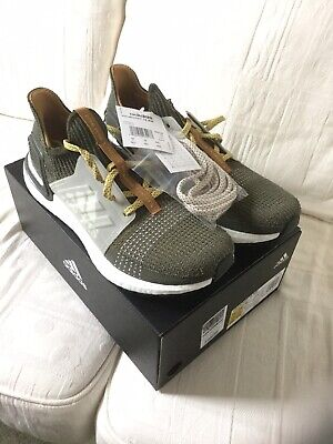 Adidas Ultraboost 19 Wood Wood Earth Green UK10 EG1728 Boxed New With Tags