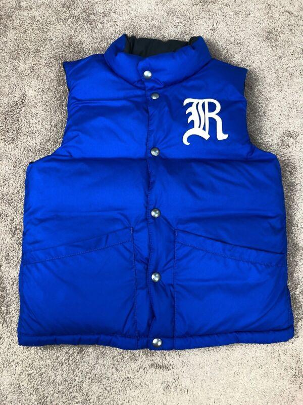 POLO RALPH LAUREN Kids REVERSIBLE Down Vest SZ 8 PUFFER Royal Blue Black