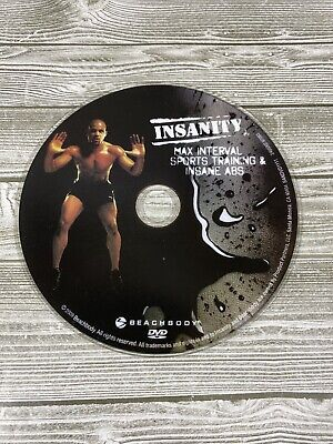Insanity Workout MAX INTERVAL SPORTS TRAINING & INSANE ABS Replacement DVD Disc