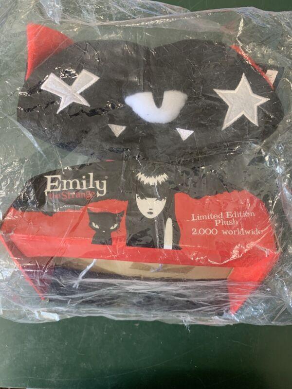 "EMILY THE STRANGE PLUSH KITTY -NWT CAT 8"" Limited Run Of 2000 Toynami 2008"