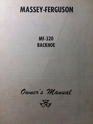 Massey Ferguson Tractor Backhoe Implement Attachment Mf-320 Owners Manual 1963