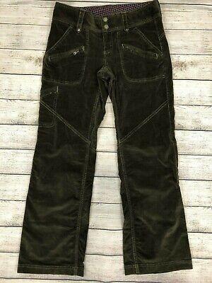 Athleta Velour Duster Pants Brown Cargo Zippers Stretch Size 2 2P Petite Z29 Brown Velour Pants