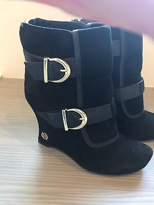 House of Harlow black suede ladies ankle boots size 37