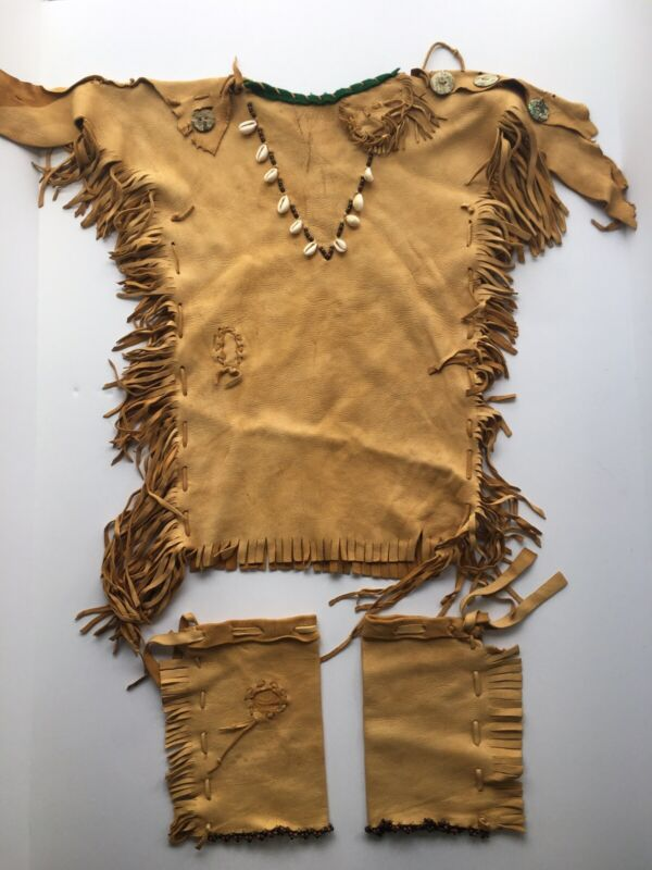Native American Buckskin Beaded Children
