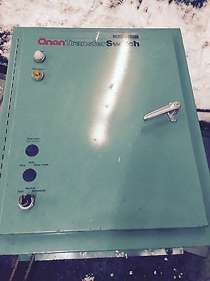 Onan Generator Transfer Switch 120 - 208 Volts 100 Amps 3 Phase 60 Hertz