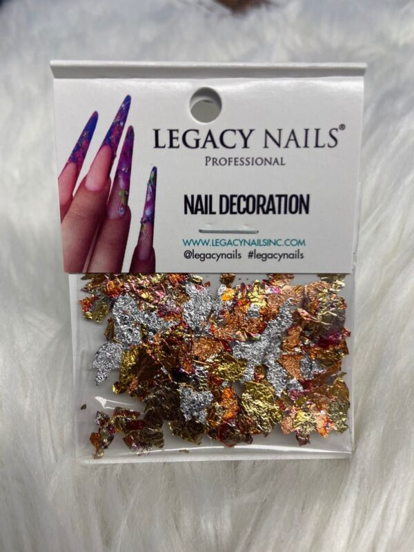 Nail Leaf Flakes Made in Italy