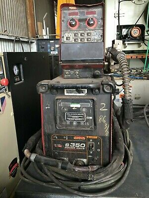 Lincoln Powerwave S350 Mig Tig Stick Welder Powerfeed 10m Feeder